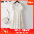 Dress Summer 2021 white S M L XL Mid length dress Two piece set Short sleeve street Crew neck Loose waist Socket puff sleeve 30-34 years old bxv 21BBAO2113P More than 95% silk Mulberry silk 100% Europe and America