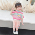 suit McDonnell Purple Pink 80cm 90cm 100cm 110cm 120cm 130cm female summer Korean version Short sleeve + pants 2 pieces Thin money There are models in the real shooting Socket nothing MDD-5868628 Class A Other 100% Summer 2021 Chinese Mainland Guangdong Province Jiangmen City