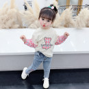 T-shirt Pink McDonnell 80cm 90cm 100cm 110cm 120cm 130cm female spring and autumn Long sleeves Crew neck Korean version There are models in the real shooting nothing other other Other 100% MDD-45643232 Class A Spring 2021 Chinese Mainland Guangdong Province Jiangmen City