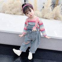 trousers McDonnell female 80cm 90cm 100cm 110cm 120cm 130cm blue spring and autumn trousers Korean version There are models in the real shooting rompers other Other 100% Class A Spring 2021 12 months, 18 months, 2 years old, 3 years old, 4 years old, 5 years old, 6 years old and 7 years old