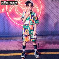Children's performance clothes neutral 110cm 120cm 130cm 140cm 150cm 160cm 170cm 180cm Robot tiger Class B Other 100% 4 years old, 5 years old, 6 years old, 7 years old, 8 years old, 9 years old, 10 years old, 11 years old, 12 years old, 13 years old, 14 years old Summer of 2019 Hip hop