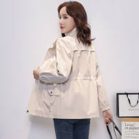 short coat Autumn 2020 S,M,L,XL,2XL Off white, black, khaki, yellow, pink have cash less than that is registered in the accounts Plush singleton  easy stand collar Other / other zipper