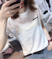 T-shirt M,L,XL,2XL,3XL,4XL,5XL Summer 2021 Short sleeve Crew neck easy Regular routine commute cotton 96% and above Korean version originality Cartoon animation, animal patterns, letters, characters