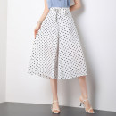 Casual pants white 27/M 28/L 29/XL 30/2XL 31/3XL 32/4XL Summer 2021 trousers Wide leg pants High waist commute Thin money BBJMEM19008 Bibigan other Korean version Three dimensional cutting Other polyester 95% 5% Pure e-commerce (online only)