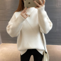 sweater Winter 2017 SMLXL Off white yellow Caramel blue black brick red camel pink purple white Long sleeves Socket singleton  Regular Half high collar Regular commute routine Solid color Regular wool Keep warm and warm Die Mi Xuan DMX0480F Resin fixation of splicing thread Other 100%