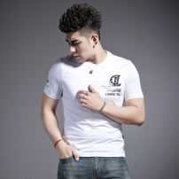T-shirt Youth fashion Black and white routine S ml XL 2XL 3XL standard Yan Ji Short sleeve Crew neck Self cultivation Other leisure summer YJT20125 Cotton 100% youth routine tide Knitted fabric Spring 2020 Alphanumeric other cotton Hot drilling Designer brand More than 95%