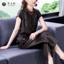 Fashion suit Summer 2021 L XL 2XL 3XL 4XL Top and pants top and skirt Over 35 years old Xianjiaoqian 8835-2 Other 100% Pure e-commerce (online only)