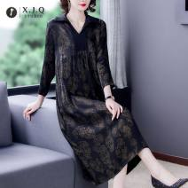 Dress Spring 2021 Picture color L XL 2XL 3XL 4XL longuette singleton  commute V-neck Decor routine 35-39 years old Xianjiaoqian Retro 8671-2 More than 95% other Other 100%