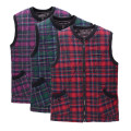 Middle aged and old women's wear Winter 2016 Red squares, green squares, purple squares 2XL (weight 90-120 kg), 3XL (weight 120-140 kg), 4XL (weight 140-160 kg), 5XL (weight 160-180 kg) commute Vest easy singleton  lattice 50-59 years old Cardigan thickening stand collar routine zipper cotton