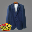 man 's suit Navy Blue Others Fashion City routine Cotton 79% polyester 21% standard Two double breasted Travel? No slits