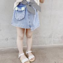 skirt Other / other female Cotton 90% other 10% summer skirt leisure time Solid color Denim skirt cotton N21881 Class B 12 months, 18 months, 2 years old, 3 years old, 4 years old, 5 years old, 6 years old, 7 years old Chinese Mainland F24 denim skirt 90cm,100cm,110cm,120cm,130cm