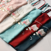 Vest sling Autumn of 2019 Pre sale [white], spot [light green] S,M,L,XL singleton  have cash less than that is registered in the accounts easy Original design camisole Embroidery / embroidery