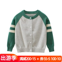 Sweater / sweater 90cm,100cm,110cm,120cm,130cm,140cm cotton neutral Grey, red Other / other Korean version No model Single breasted routine Crew neck Ordinary wool