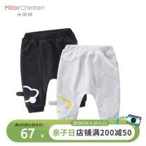 trousers Milo bear male 80cm 90cm 100cm 110cm Grey black trousers Big PP pants Cotton 95% polyurethane elastic fiber (spandex) 5% W5007KA18 Class A W5007KA18 12 months 18 months 2 years 3 years old