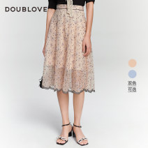 skirt Spring 2021 1/XS 2/S 3/M 4/L 5/XL Beige dpgpa3205am blue dpgpa3205bb Mid length dress Sweet High waist Umbrella skirt other Type A 25-29 years old DPGPA3205A More than 95% DOUBLE LOVE polyester fiber bow Polyester 100% Same model in shopping mall (sold online and offline) Ruili