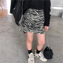 skirt 90cm,100cm,110cm,120cm,130cm,140cm,150cm Zebra skirt with cashmere, zebra skirt thin style in stock Other / other female Cotton 85% others 15% No season skirt Korean version other A-line skirt flannelette