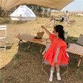 Dress orange female Other / other 90cm,100cm,110cm,120cm,130cm,140cm,150cm Other 100% summer Korean version Short sleeve Solid color cotton Fluffy skirt 18 months, 2 years old, 3 years old, 4 years old, 5 years old, 6 years old, 7 years old, 8 years old