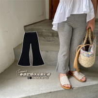 trousers Other / other female summer trousers Korean version Leggings There are models in the real shot High waist Leather belt cotton Don't open the crotch 123 18 months, 2 years old, 3 years old, 4 years old, 5 years old, 6 years old, 7 years old, 8 years old Grey, black