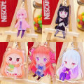 Cartoon card / Pendant / stationery Over 3 years old Keychain / Pendant Dry girl! Small burying Transparent on both sides goods in stock Cute house