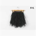 skirt Summer of 2018 Average size black Short skirt Versatile High waist Irregular Solid color Type A 18-24 years old A1006 Gauze 81g / m ^ 2 (including) - 100g / m ^ 2 (including)