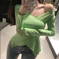 T-shirt S1237 green, s1237 pink, s1237 black, s1237 white Average size V-neck Self cultivation other 96% and above Other