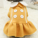 Pet clothing / raincoat Dog skirt XS (about 2.5-3.5 kg) s (about 4-5.5 kg) m (about 6-8 kg) l (about 9-11 kg) XL (about 11-14 kg) Le Shuang pet leisure time Bow button skirt - yellow bow button skirt - Pink