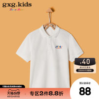 T-shirt summer No model in real shooting nothing Cotton 97% polyurethane elastic fiber (spandex) 3% KB124304C other Summer 2020 male gxg kids Cotton blended fabric Short sleeve Lapel and pointed collar white 110cm 120cm 130cm 140cm 150cm