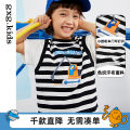 T-shirt Black and white bar black and white bar a black and white bar B gxg kids 110/52 110/56 120/60 130/64 140/64 male spring and autumn Short sleeve Crew neck leisure time There are models in the real shooting nothing Cotton blended fabric stripe Cotton 96% polyurethane elastic fiber (spandex) 4%