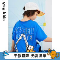 T-shirt Blue a blue B gxg kids 110/56 120/60 130/64 140/64 150/68 male spring and autumn Short sleeve Crew neck There are models in the real shooting nothing Cotton blended fabric other Cotton 97% polyurethane elastic fiber (spandex) 3% 12C144001B Class B Spring 2021 Chinese Mainland