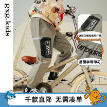 trousers gxg kids male Khaki a khaki B spring and autumn trousers leisure time There are models in the real shooting Casual pants cotton Don't open the crotch Cotton 100% other