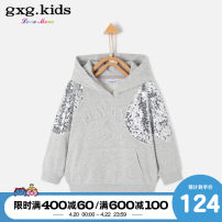 Sweater / sweater gxg kids grey female 110cm 120cm 130cm 140cm 150cm spring and autumn No detachable cap leisure time routine No model Cotton blended fabric Cotton 83% polyester 17% KB231258A Class C Spring 2020