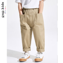 trousers gxg kids male 110cm 120cm 130cm 140cm 150cm khaki spring and autumn trousers There are models in the real shooting Casual pants Leather belt middle-waisted Cotton blended fabric Don't open the crotch Cotton 98% polyurethane elastic fiber (spandex) 2% 12B102201A other 12B102201A