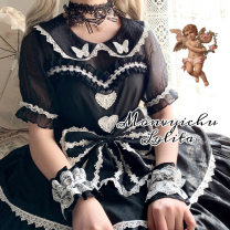 Lolita / soft girl / dress Witch wardrobe Black, white Xs, s, m, l, XL, one size fits all Summer, spring Customized