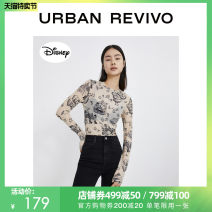 T-shirt Nude apricot S XL L M XXL Summer 2021 Long sleeves Crew neck Straight cylinder Regular other cotton 86% (inclusive) -95% (inclusive) 25-29 years old UR YV11S4MN2008 Cotton 94% polyurethane elastic fiber (spandex) 6% Same model in shopping mall (sold online and offline)