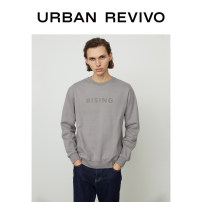 T-shirt Youth fashion Light grey ivory white dark grey thin S XL L M XS XXL UR Long sleeves Crew neck standard Other leisure winter MF40R4MN2000 Cotton 95% polyamide (nylon) 5% youth Winter 2020 Same model in shopping mall (sold online and offline)