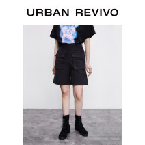 Casual pants It's black S XL L M Summer 2020 shorts Straight pants Natural waist 25-29 years old 81% (inclusive) - 90% (inclusive) 1YV18S6HE2000 UR cotton Cotton 81% viscose (viscose) 18% polyurethane elastic (spandex) 1% Same model in shopping mall (sold online and offline)