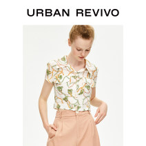 shirt Light yellow printing S XL L M Autumn of 2019 Viscose 96% and above Short sleeve Original design Short style (40cm < length ≤ 50cm) Polo collar Single row multi button routine other 25-29 years old Straight cylinder UR YU29S2BE2003 printing Viscose (viscose) 100%