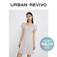 Dress Summer 2021 Purple check S XL L M Middle-skirt singleton  Short sleeve V-neck middle-waisted other 25-29 years old UR YL10R7EN2002 51% (inclusive) - 70% (inclusive) other cotton Cotton 62% polyester 38% Same model in shopping mall (sold online and offline)
