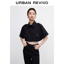 shirt Black is white S L M Summer 2021 cotton 71% (inclusive) - 80% (inclusive) elbow sleeve Original design Regular other Solid color 25-29 years old UR YV10R2BN2001 Cotton 79% polyester 19% polyurethane elastic fiber (spandex) 2% Same model in shopping mall (sold online and offline)