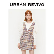 skirt Spring 2020 S XL L M XXL Orange check Short skirt Natural waist 25-29 years old YL04S5FN2000 More than 95% other UR polyester fiber Polyester 97% wool 2% polyacrylonitrile 1% Same model in shopping mall (sold online and offline)