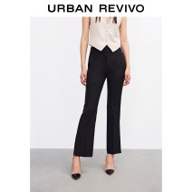 Casual pants It's black XXS S XL XS L M Summer 2021 trousers Straight pants Natural waist 25-29 years old UR Polyester fiber 90% polyurethane elastic fiber (spandex) 10% Same model in shopping mall (sold online and offline)