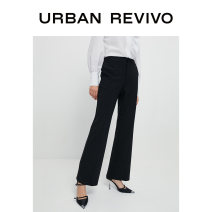 Casual pants It's black XXS S XS L M Spring 2021 trousers Flared trousers Natural waist 25-29 years old WG05R6DN2000 UR nylon Polyamide fiber (nylon) 45% viscose fiber (viscose fiber) 45% polyurethane elastic fiber (spandex) 10% Same model in shopping mall (sold online and offline)