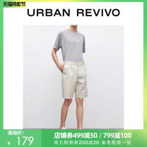 Casual pants UR Youth fashion Khaki thin Shorts (up to knee) Other leisure Self cultivation Micro bomb summer youth middle-waisted Cotton 61% polyamide fiber (nylon) 34% polyurethane elastic fiber (spandex) 5% Summer 2020 Same model in shopping mall (sold online and offline)