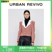 short coat Winter 2020 S XL L M Light red check Long sleeves Self cultivation 25-29 years old UR 81% (inclusive) - 90% (inclusive) 1YU40S1EN2000 polyester fiber Polyester 85% wool 8% others 7% Same model in shopping mall (sold online and offline)