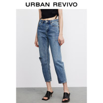 Jeans Summer 2021 blue XXS S XS L M trousers Natural waist Straight pants 25-29 years old UR