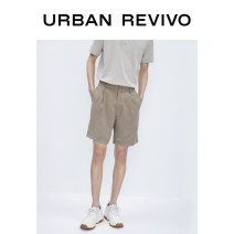 Casual pants UR Youth fashion Khaki thin Shorts (up to knee) Other leisure Self cultivation summer youth middle-waisted Viscose 91% polyester 9% Summer 2020 Same model in shopping mall (sold online and offline)