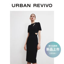 Dress Summer 2021 It's black S XL XS L M Mid length dress Short sleeve Crew neck middle-waisted other other 25-29 years old UR WJ12S9FN2000 51% (inclusive) - 70% (inclusive) other nylon Polyamide fiber (nylon) 54% viscose fiber (viscose) 46% Same model in shopping mall (sold online and offline)