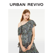 shirt S M L XL XXL Autumn of 2019 polyester fiber 96% and above Short sleeve Original design Regular Slant collar Socket routine other 25-29 years old UR Polyester 100% Same model in shopping mall (sold online and offline)