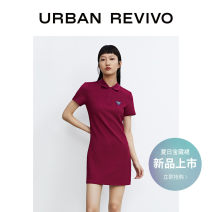 Dress Summer 2021 Dark purple S XL L M Short skirt Short sleeve other middle-waisted Solid color other 25-29 years old UR YV06R7AN2000 More than 95% polyester fiber Polyester 95% polyurethane elastic fiber (spandex) 5% Same model in shopping mall (sold online and offline)
