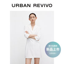Dress Summer 2021 XS S M L XL Short skirt Long sleeves other middle-waisted routine 25-29 years old UR 81% (inclusive) - 90% (inclusive) polyester fiber Polyester 88% polyurethane elastic fiber (spandex) 12% Same model in shopping mall (sold online and offline)